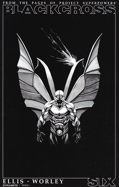 Image: Project Superpowers: Blackcross #6 (Shalvey b&w incentive cover - 06061) (25-copy) - Dynamite