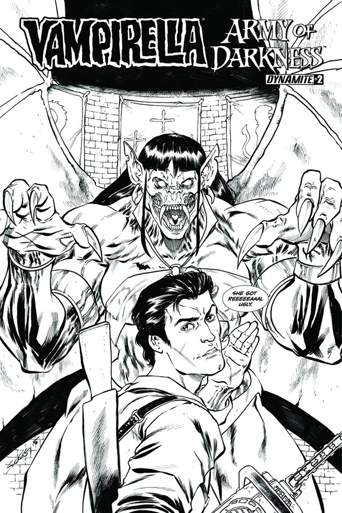Image: Vampirella / Army of Darkness #2 (cover C - incentive) (10-copy) - Dynamite