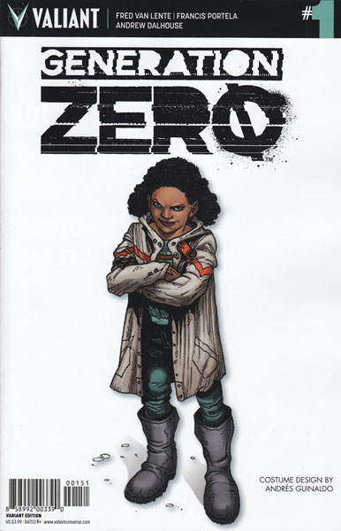 Image: Generation Zero #1 (Guinaldo Character Design incentive cover - 00151) (10-copy)  [2016] - Valiant Entertainment LLC