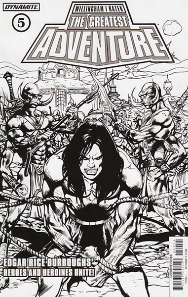 Image: Greatest Adventure #5 (Castro b&w incentive cover - 05051) (20-copy)  [2017] - Dynamite