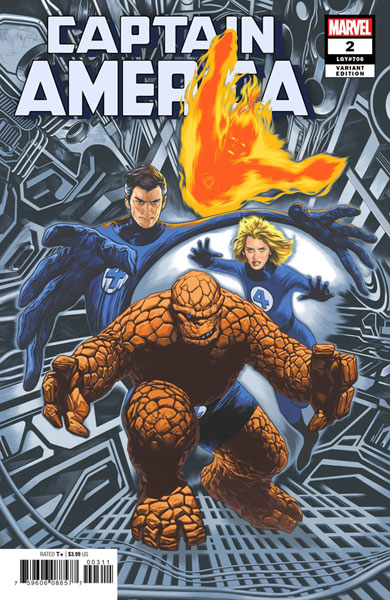 Image: Captain America #2 (variant the Return of the Fantastic Four cover - Charest) - Marvel Comics