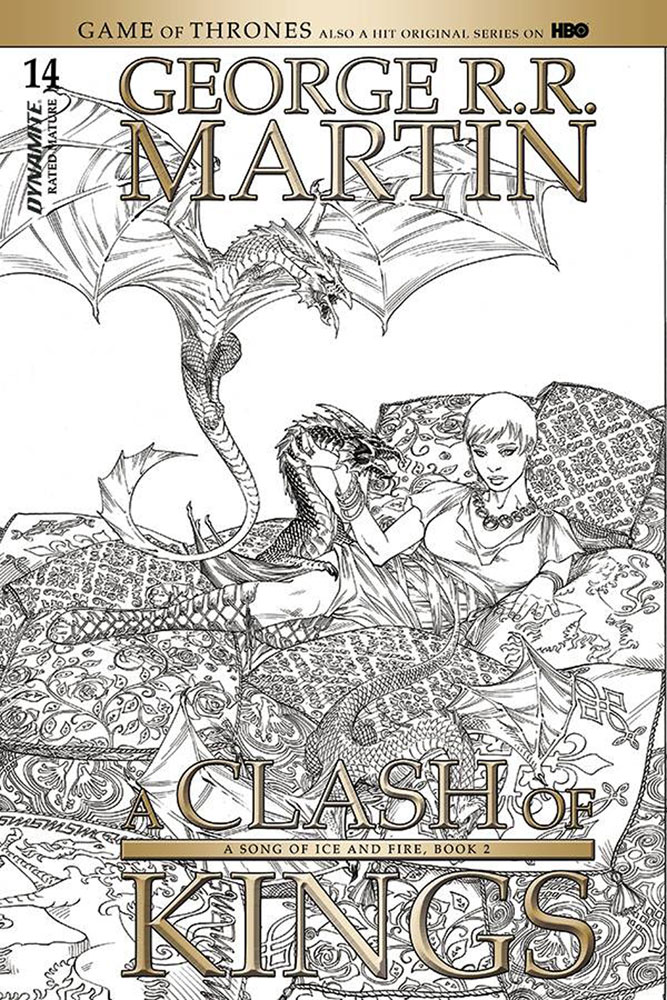 Image: George R. R. Martin's A Clash of Kings #14 (cover C incentive - Miller B&W) (10-copy)  [2018] - Dynamite