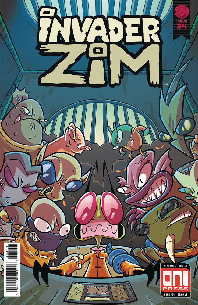 Image: Invader Zim #34 (cover A - Wucinich & Stresing) - Oni Press Inc.