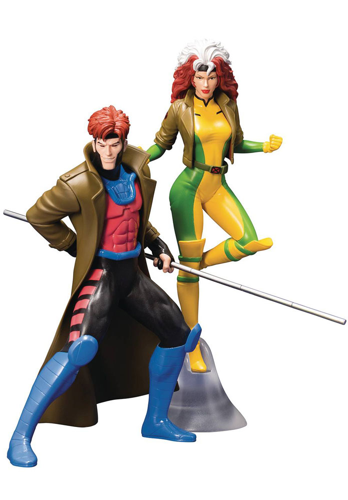 Image: Marvel Comics ArtFX+ Statue 2-Pack: X-Men '92 - Gambit & Rogue  - Koto Inc.
