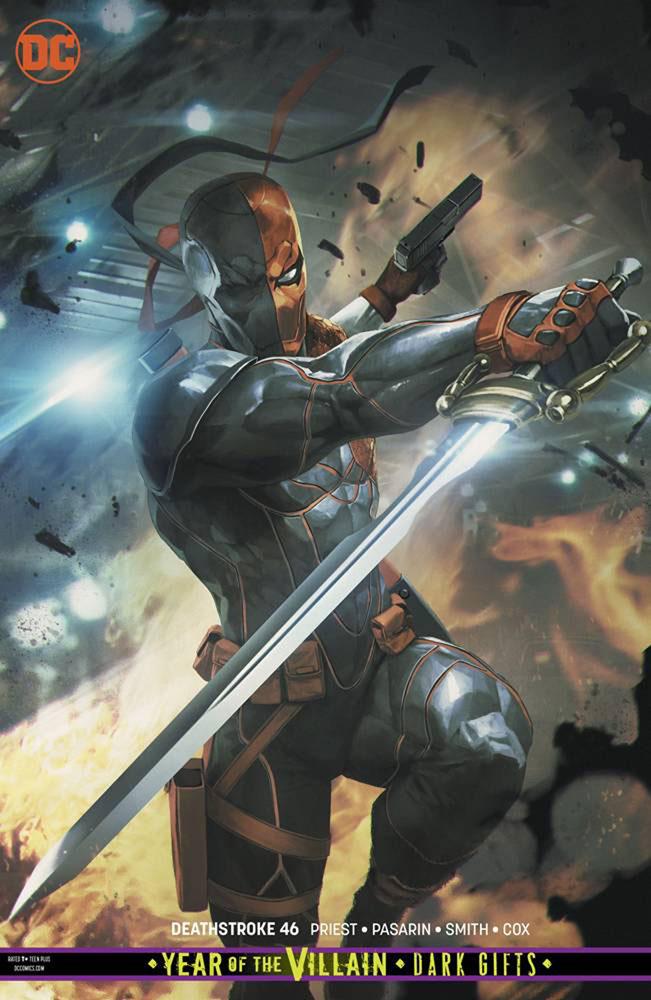 Image: Deathstroke #46 (Year of the Villain - Dark Gifts) (variant cover - Skan) - DC Comics