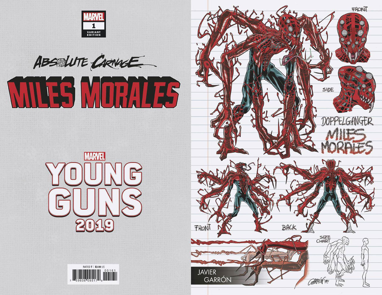 Image: Absolute Carnage: Miles Morales #1 (variant Young Guns cover - Garron) - Marvel Comics