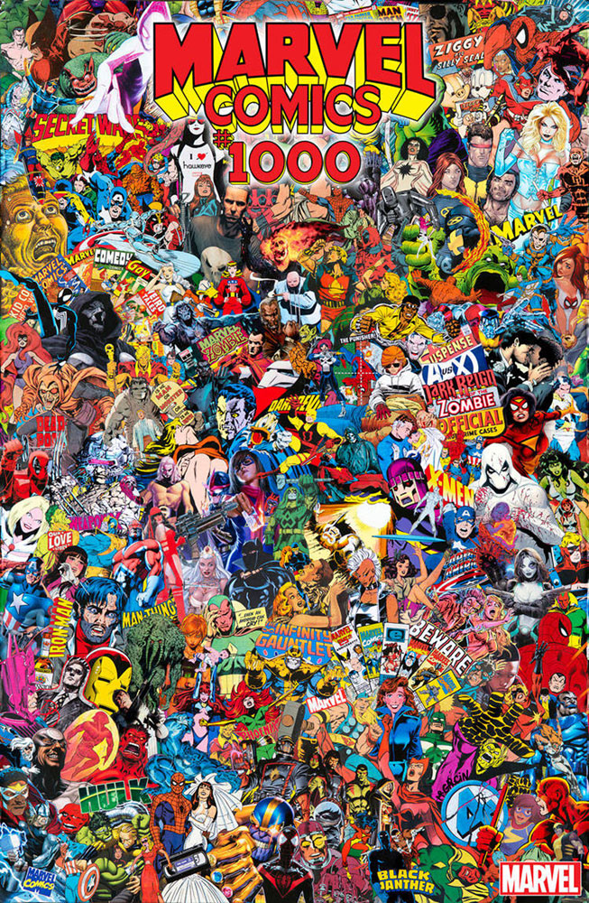 Marvel Comics #1000 Mr. Garcin Collage cover