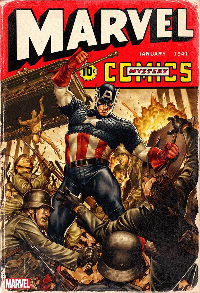 Marvel Comics #1000 Mark Brooks 1940s cover