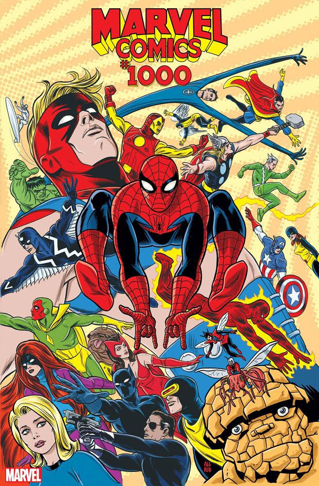Marvel Comics #1000 Mike Allred 1960s cover