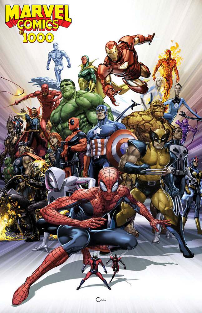 Marvel Comics #1000 Clayton Crain cover