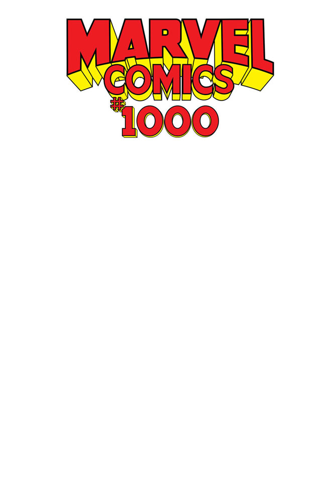 Image: Marvel Comics #1000 (variant Blank cover) - Marvel Comics