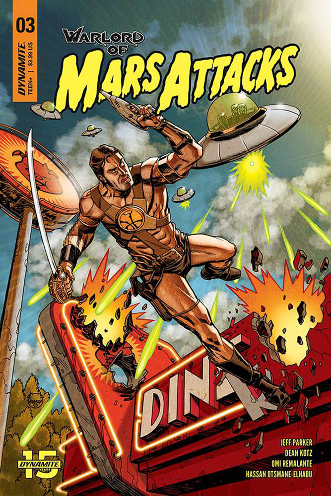 Image: Warlord of Mars Attacks #3 (cover A - Johnson) - Dynamite