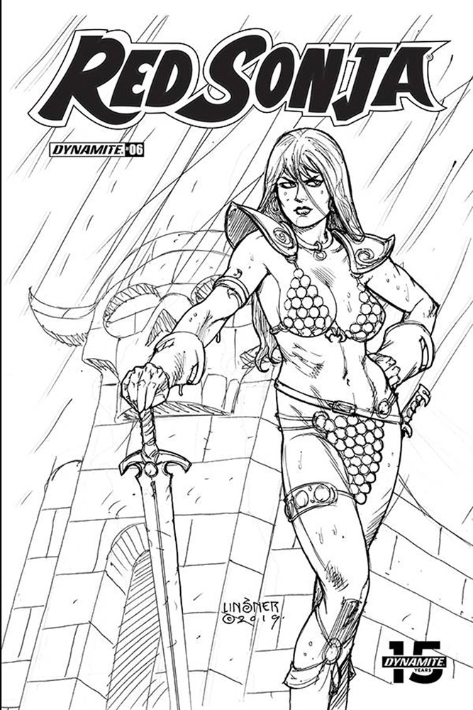 Image: Red Sonja Vol. 05 #7 (incentive cover - Linsner B&W) (30-copy)  [2019] - Dynamite