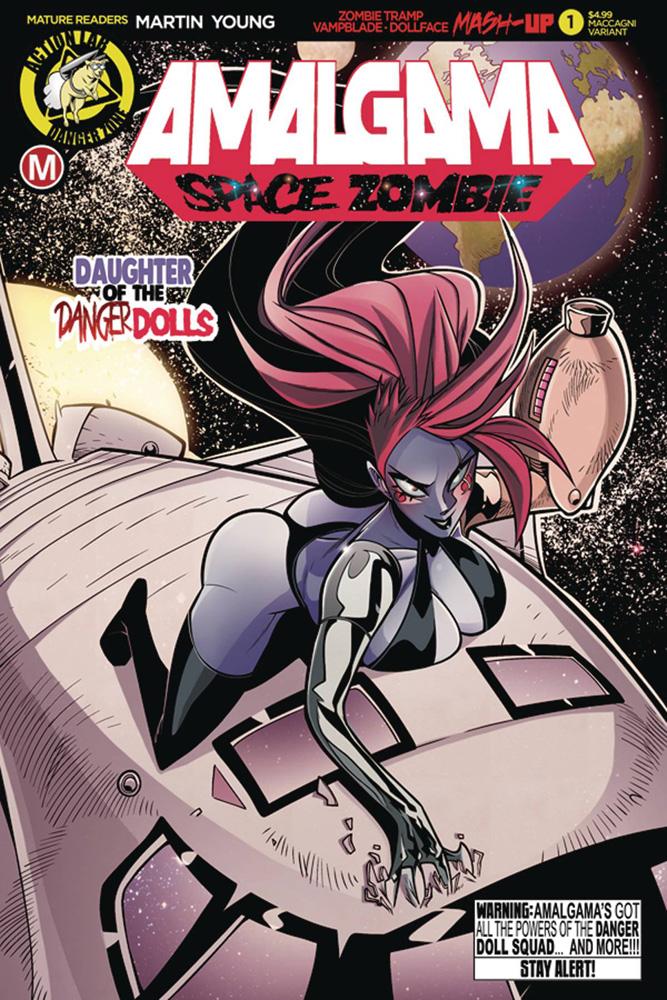 Image: Amalgama Space Zombie #1 (cover C - MacCagni) - Action Lab - Danger Zone