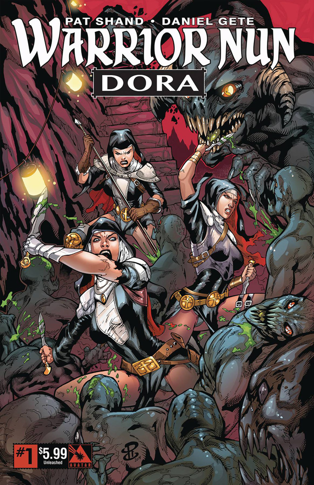 Image: Warrior Nun: Dora #1 (variant cover - Unleashed) - Avatar Press Inc