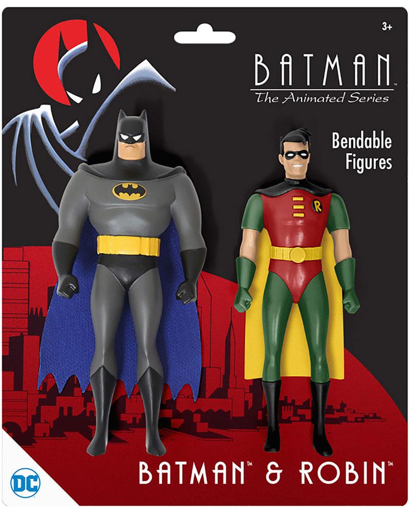 Batman Animated Series 12-Piece Bendable Figure 2-Pack Assortment  - N J Croce Company