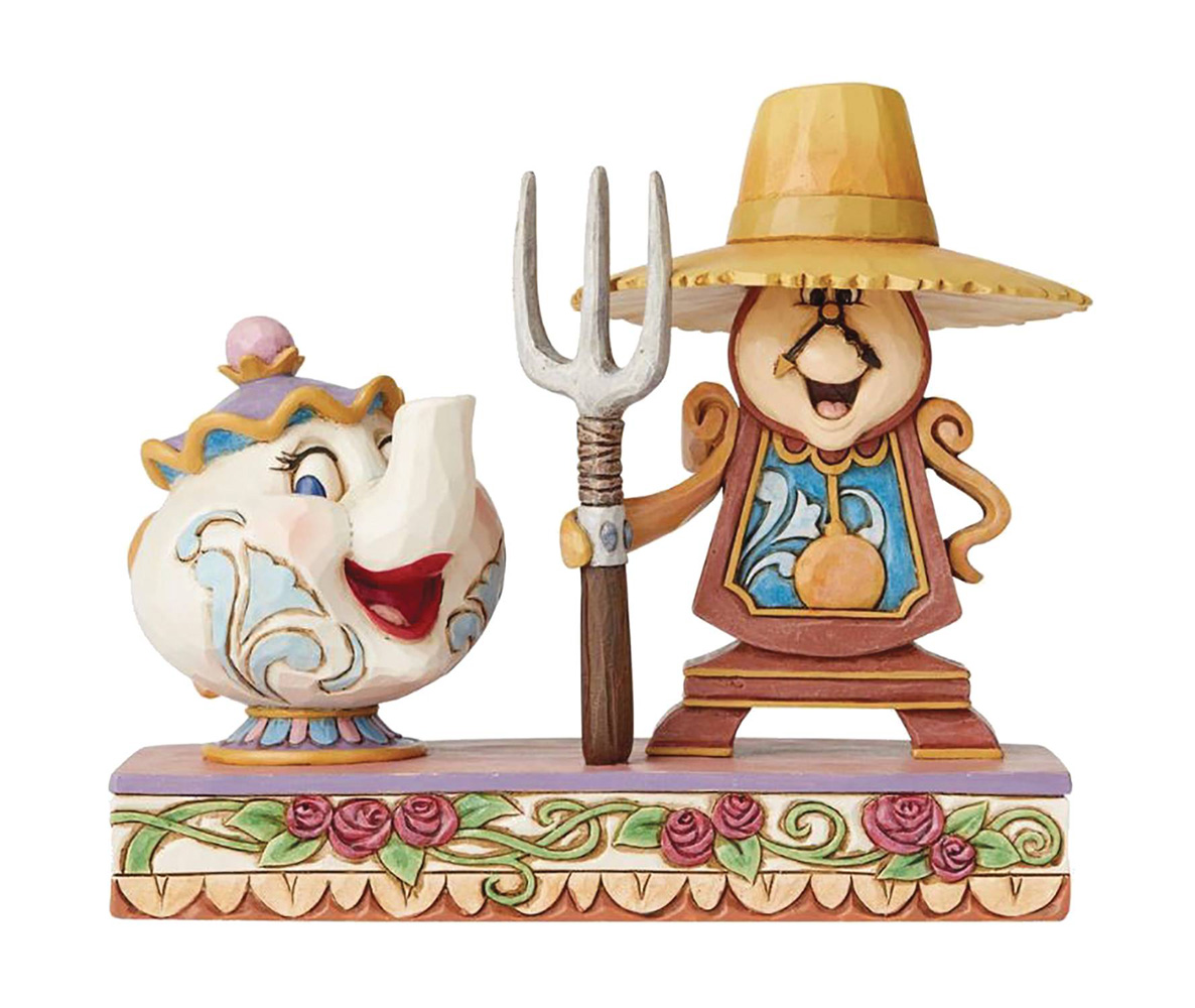 Image: Disney Traditions Figure: Cogsworth and Mrs. Potts  - Enesco Corporation