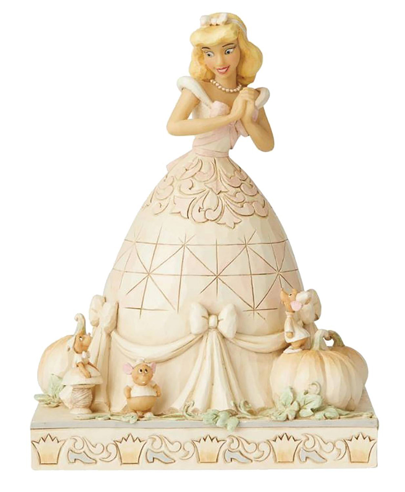 Image: Disney Figure: White Woodland Cinderella  - Enesco Corporation