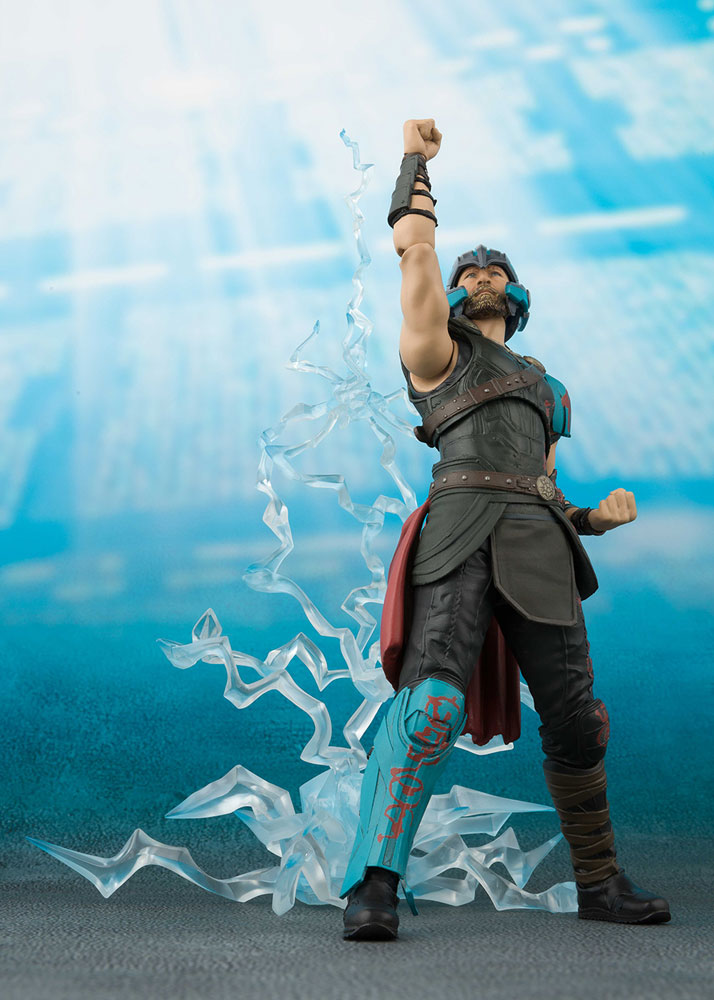 Thor Ragnarok S.H.Figuarts Action Figure Set: Thor & Thunderbolt Effect  - Bluefin