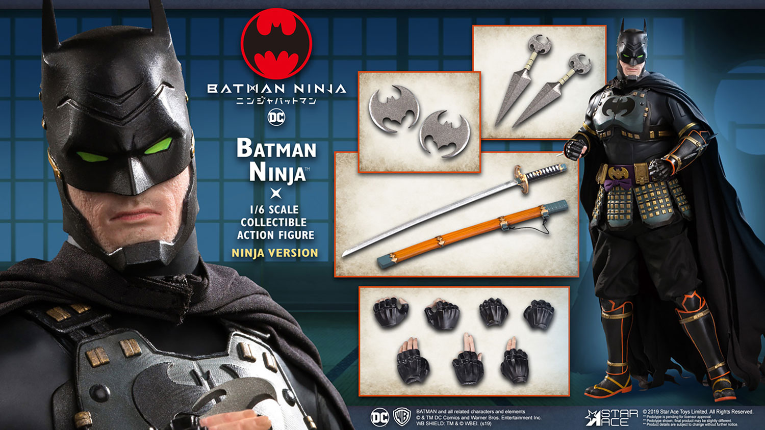 Batman Collectible Action Figure: Ninja  (Ninja version) (1/6 scale) - Star Ace Toys Limited