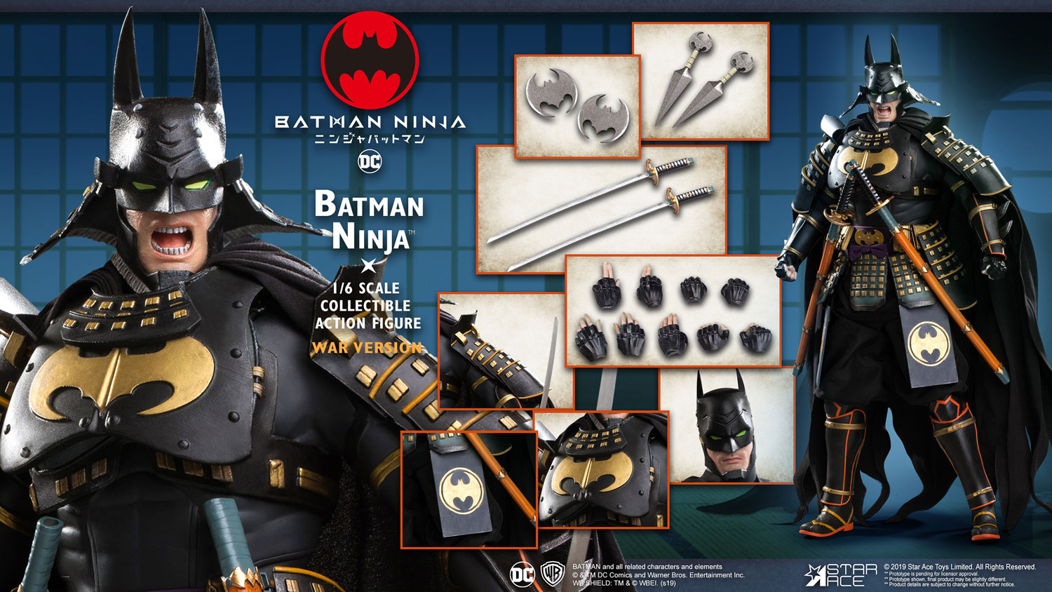 Batman Collectible Action Figure: Ninja  (War version) (1/6 scale) - Star Ace Toys Limited