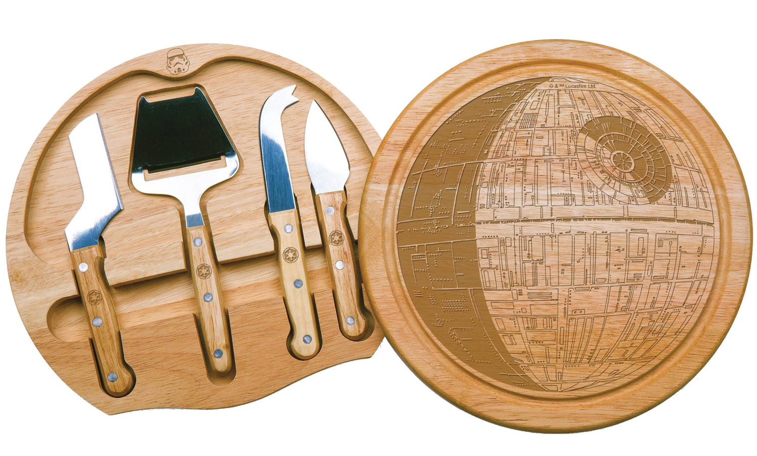 Image: Star Wars Circo Cheese Board and Tools Set: Death Star  - Entertainment Earth LLC