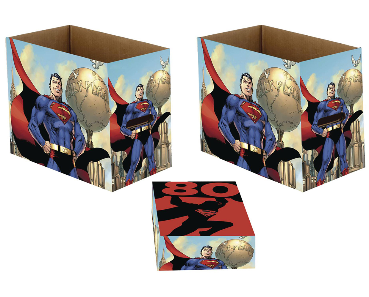 Image: DC Comic Storage Box: Superman 80  (5-Pack) (Short) - Wizkids/Neca