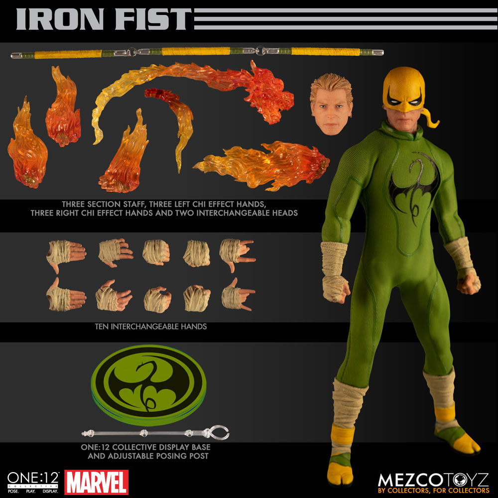 One-12 Collective Marvel Action Figure: Iron Fist  - Mezco Toys