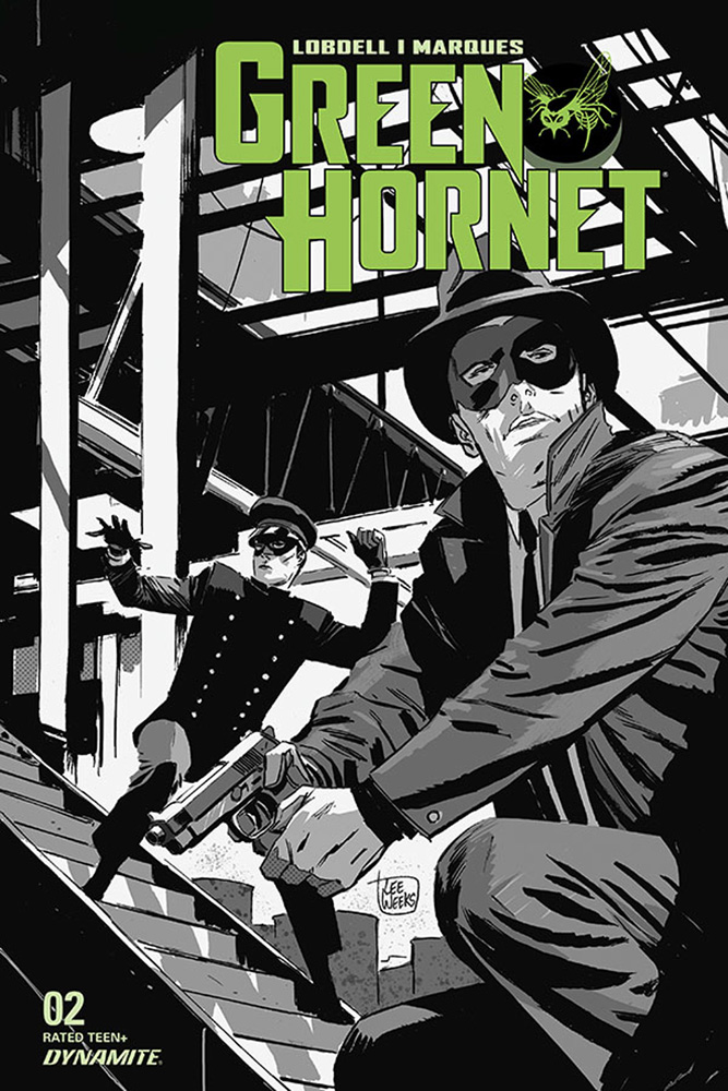 Image: Green Hornet Vol. 03 #2 (incentive 1:20 cover - Weeks B&W)  [2020] - Dynamite