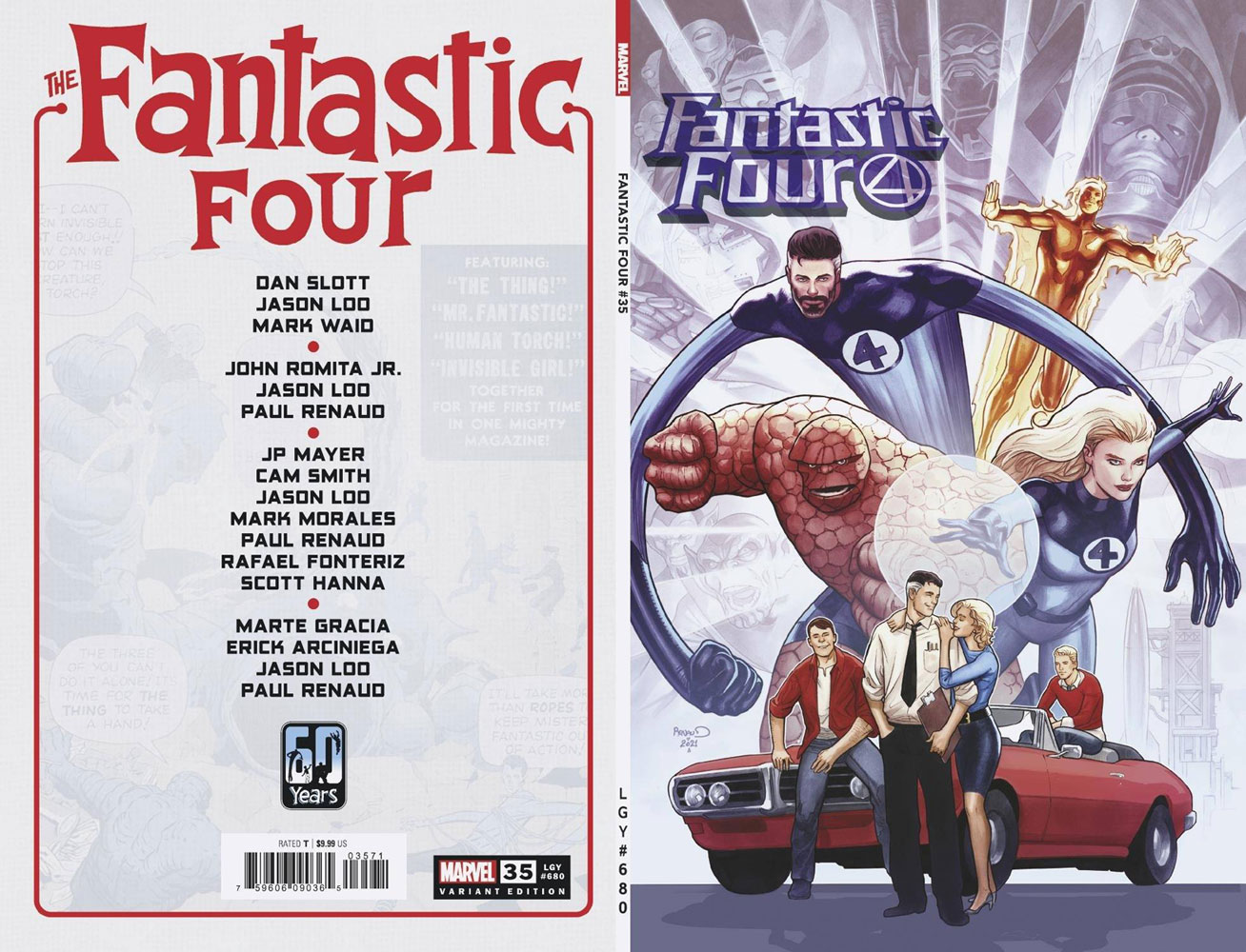 Fantastic Four #35 (incentive 1:25 cover - Renaud)  [2021] - Marvel Comics