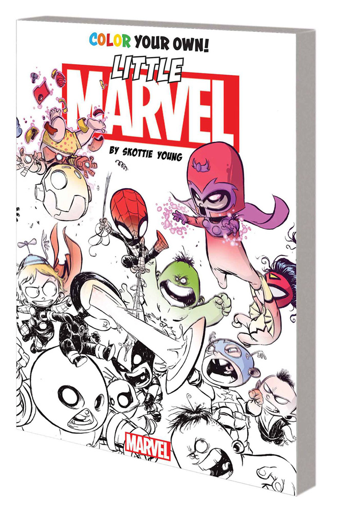 Image: Color Your Own Young Marvel by Skottie Young SC  - Marvel Comics