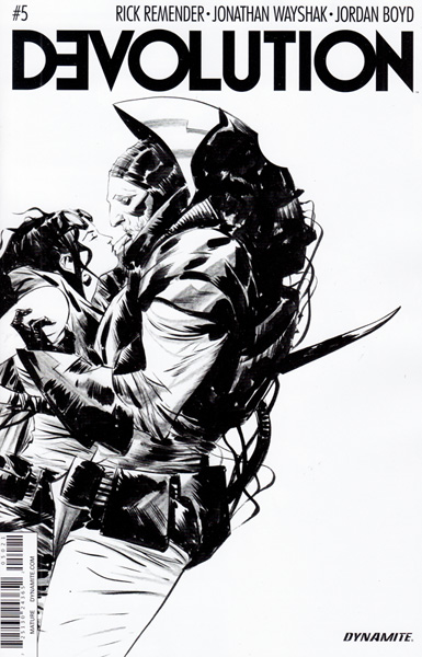 Image: Devolution #5 (Jae Lee b&w variant incentive - 05021) (10-copy)  [2016] - Dynamite