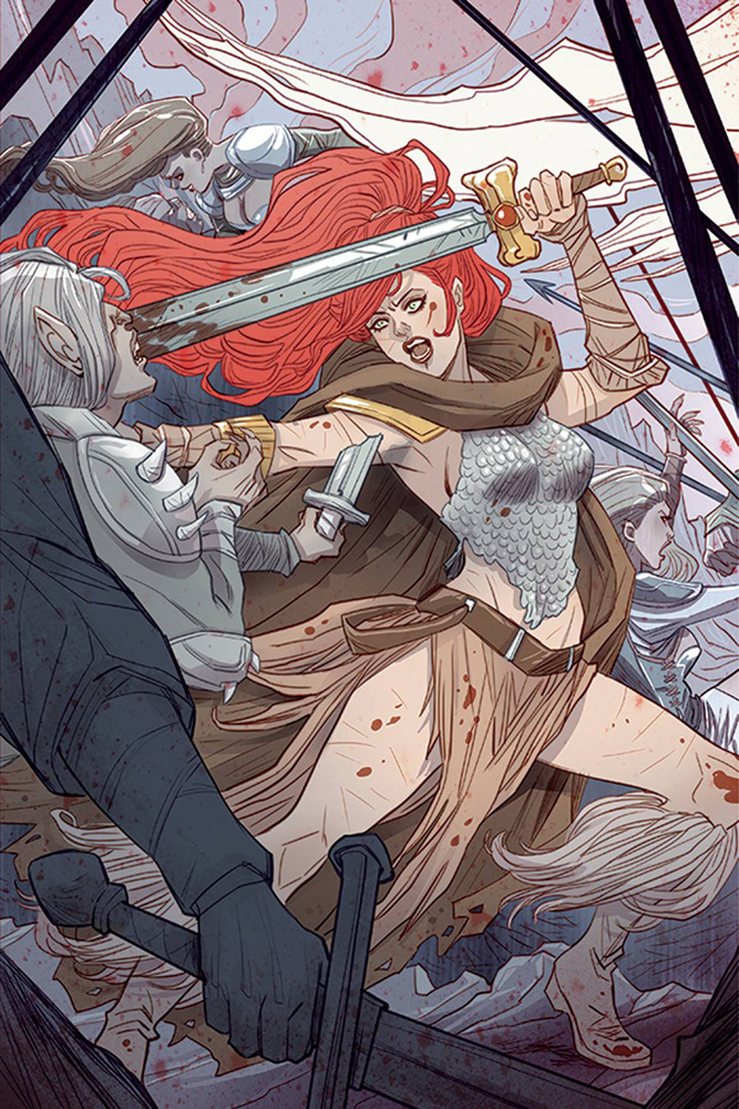 Image: Red Sonja Vol. 3 #5 (variant cover - Sauvage Virgin Art)  [2016] - Dynamite