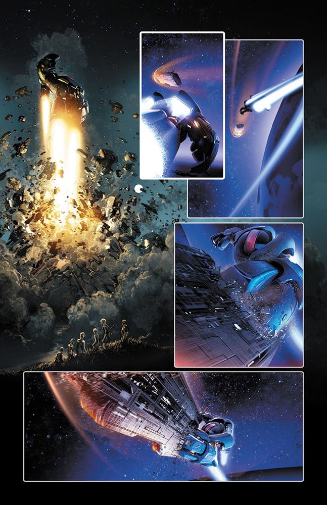 4001 A.D. #1 (Lee interlocking Mega cover variant incentive - 00171) (20-copy)  [2016] - Valiant Entertainment LLC