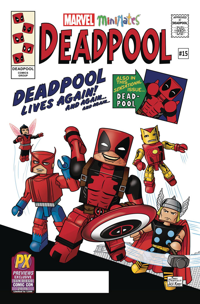 Image: Deadpool #15 (variant SDCC 2016 Minimates cover - Barry Bradfield)  [2016] - Marvel Comics