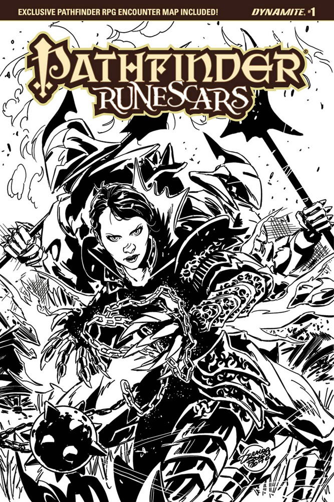 Image: Pathfinder: Runescars #1 (Borges b&w incentive cover - 01051) (15-copy)  [2017] - Dynamite