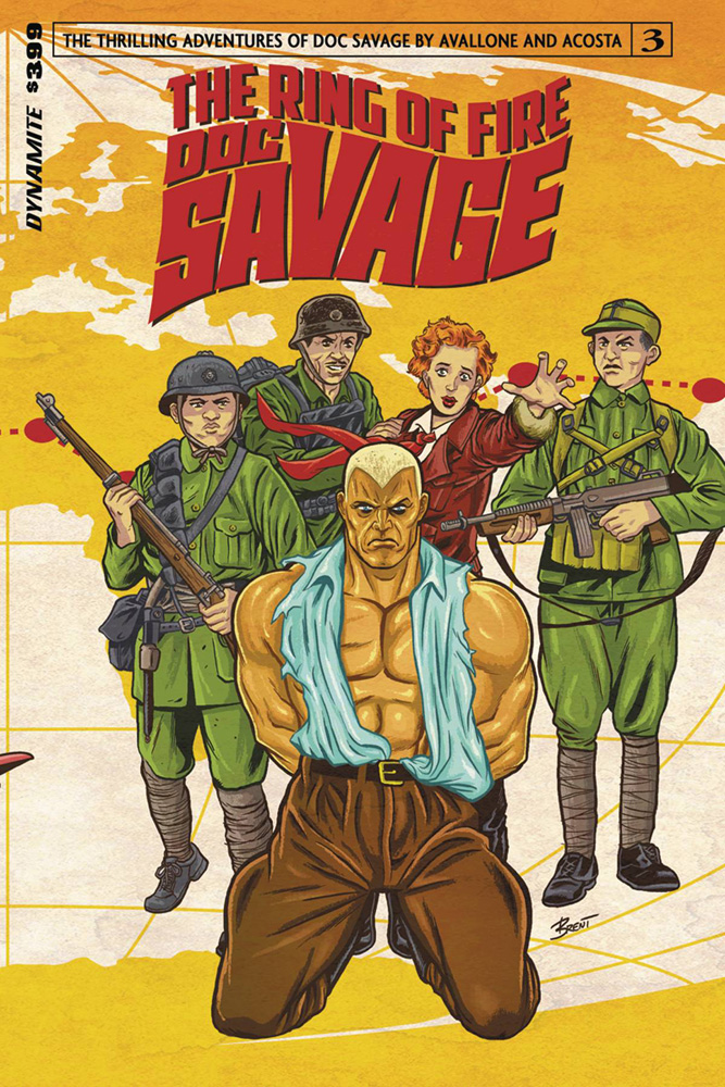 Image: Doc Savage: Ring of Fire #3 (cover A - Schoonover)  [2017] - Dynamite
