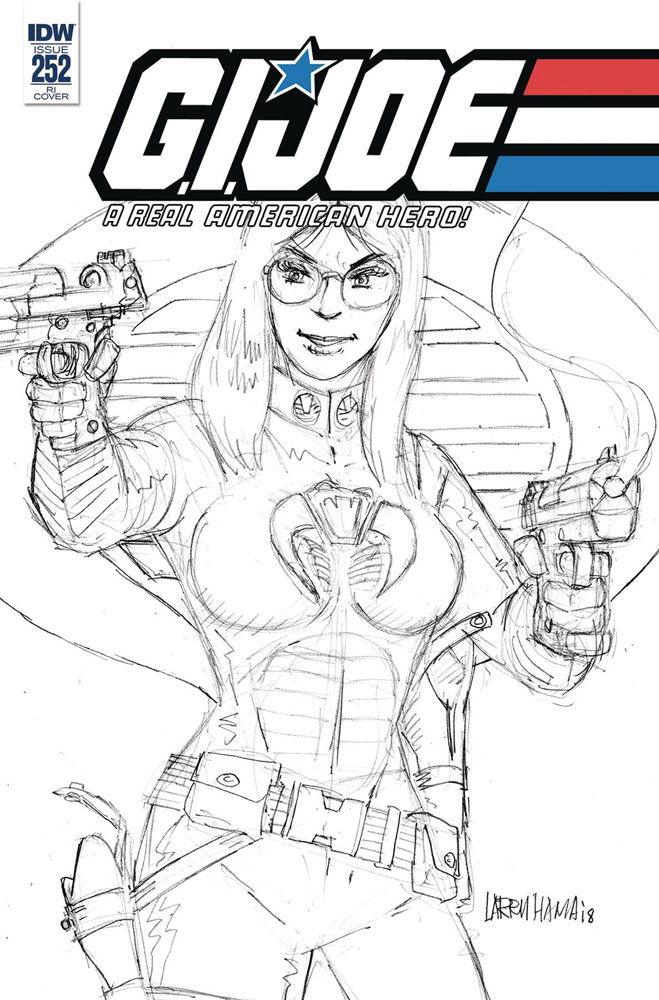 Image: G.I. Joe: A Real American Hero #252 (incentive cover - Larry Hama) (10-copy)  [2018] - IDW Publishing