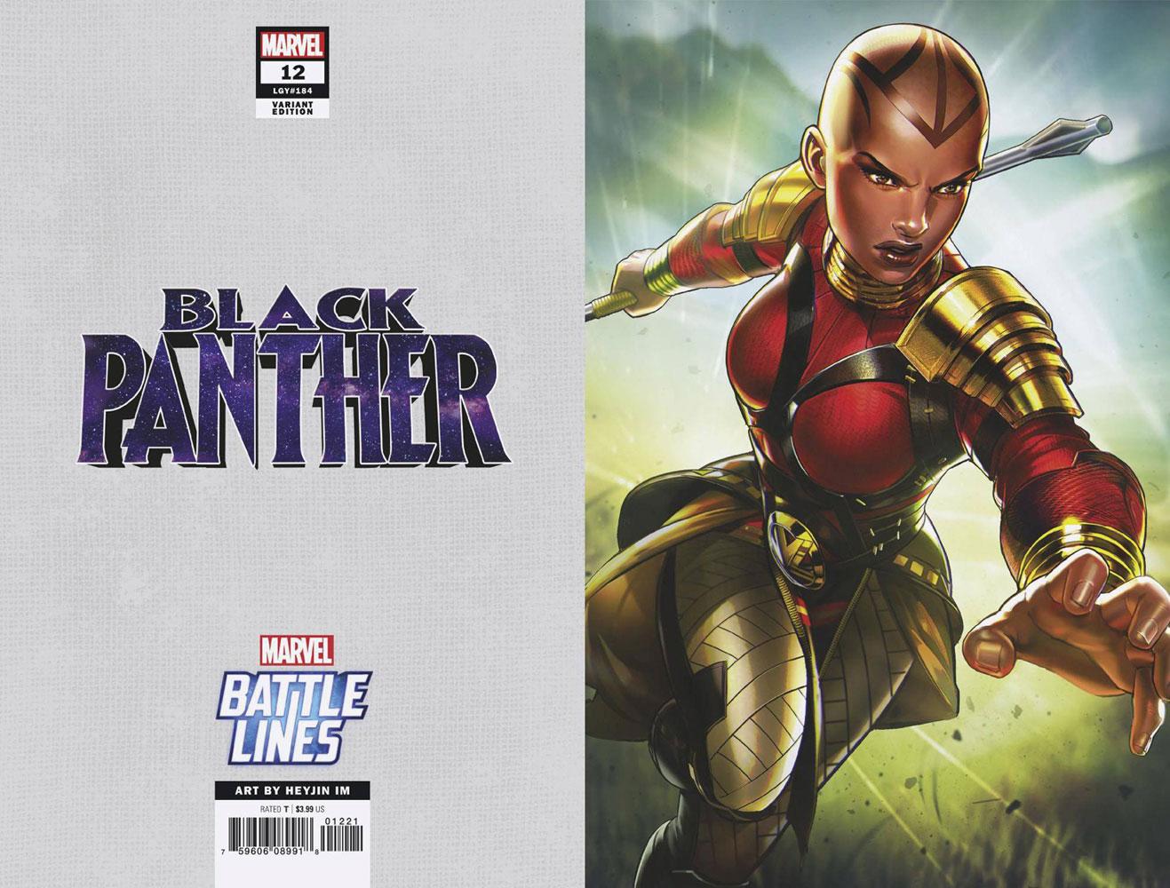 Black Panther #12 (variant Marvel Battle Lines cover - Heyjin Im) - Marvel Comics