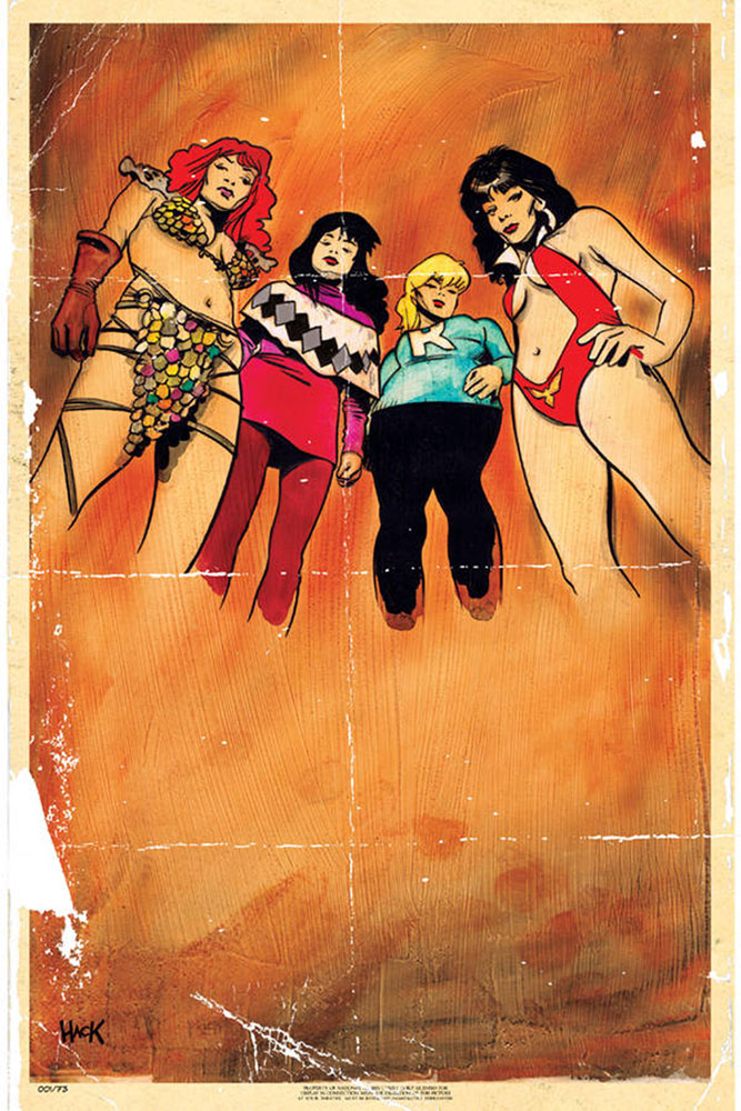 Image: Red Sonja and Vampirella Meet Betty and Veronica #1 (incentive cover - Hack virgin) (40-copy)  [2019] - Dynamite