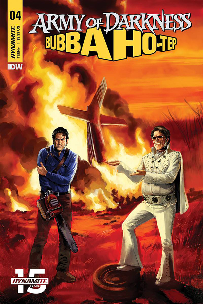 Image: Army of Darkness / Bubba Ho-Tep #4 (cover A - Galindo) - Dynamite