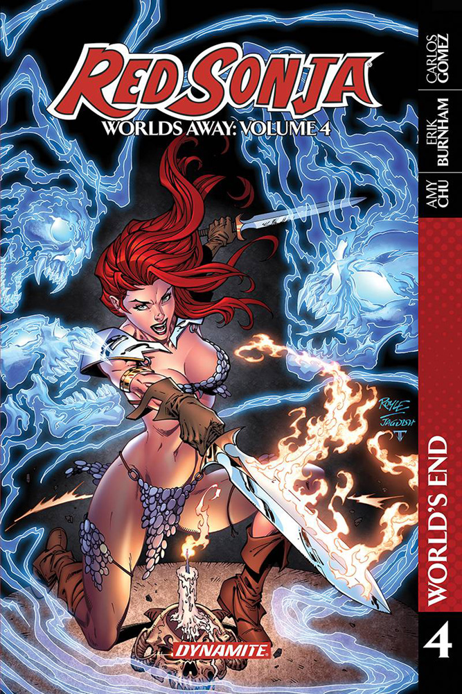 Image: Red Sonja Worlds Away Vol. 04: The Blade Skath SC  - Dynamite