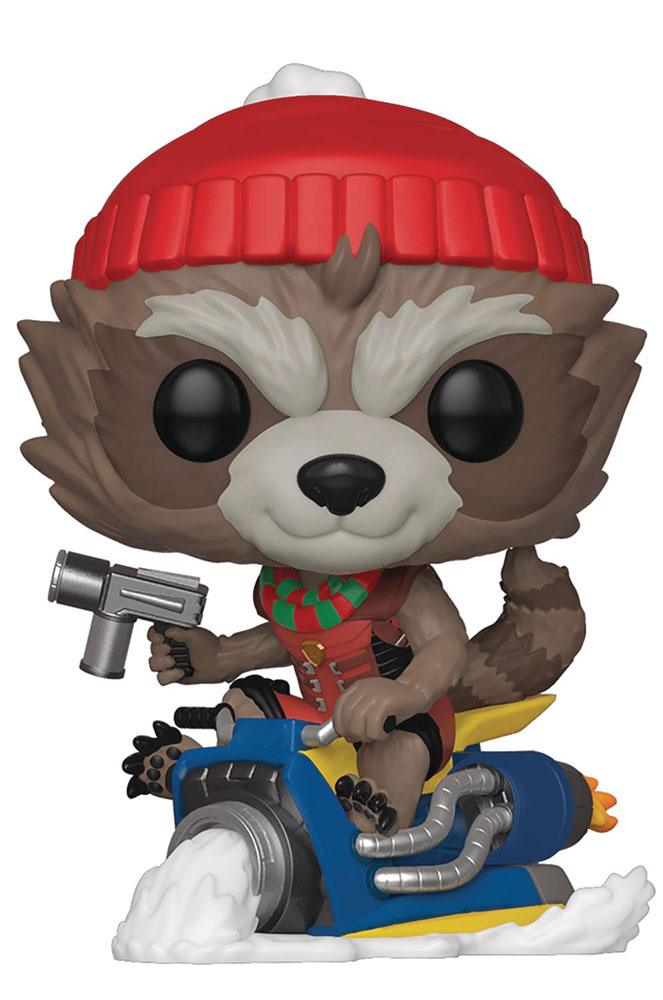 Image: Pop! Marvel Holiday Vinyl Figure: Rocket  -