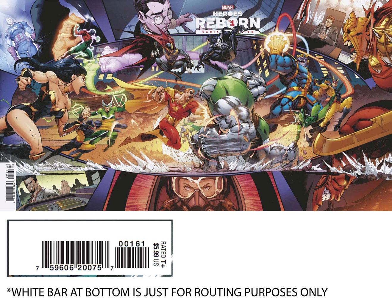 Heroes Reborn #1 (variant Gatefold cover - Coello) - Marvel Comics