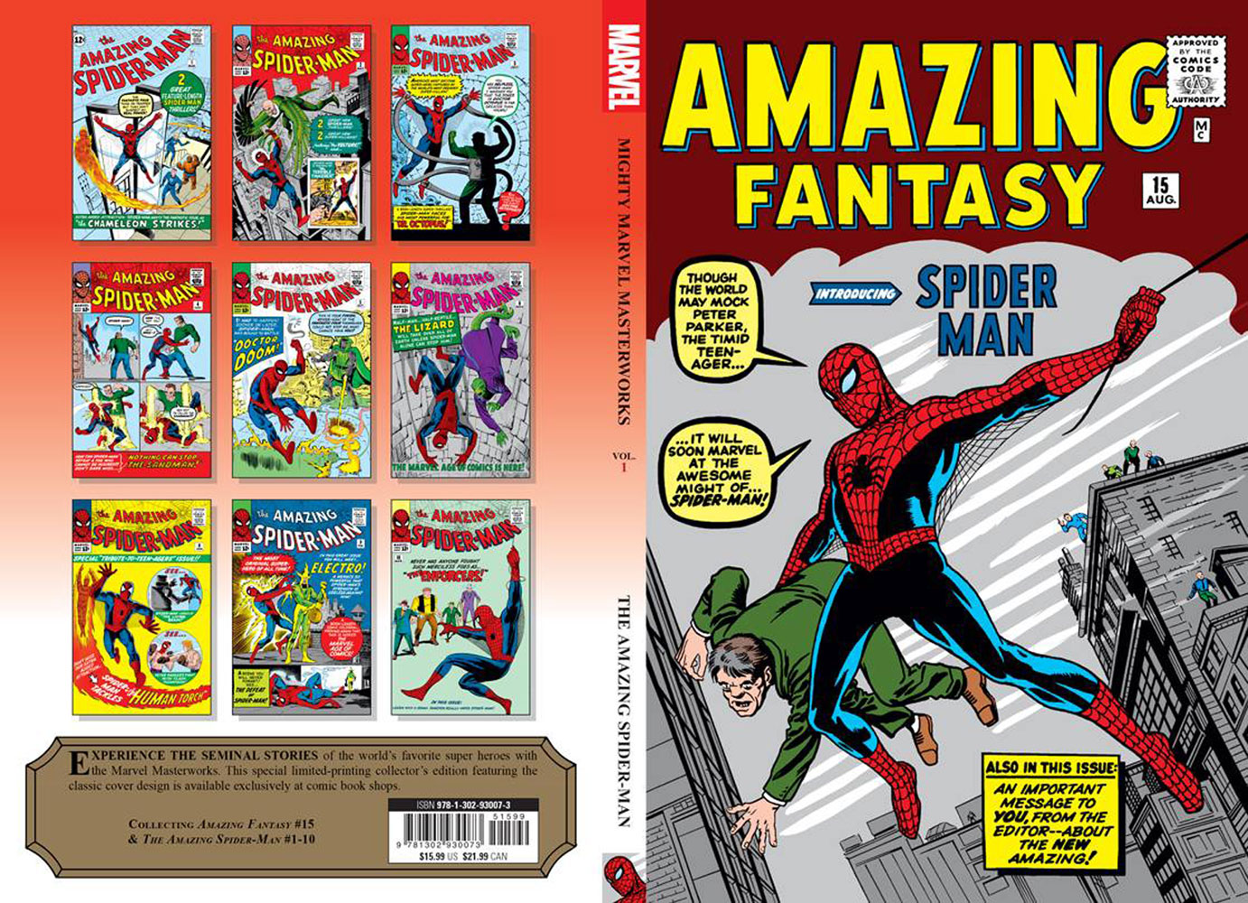 Mighty Marvel Masterworks: The Amazing Spider-Man - With Great Power... SC  (Direct Market edition) - Marvel Comics