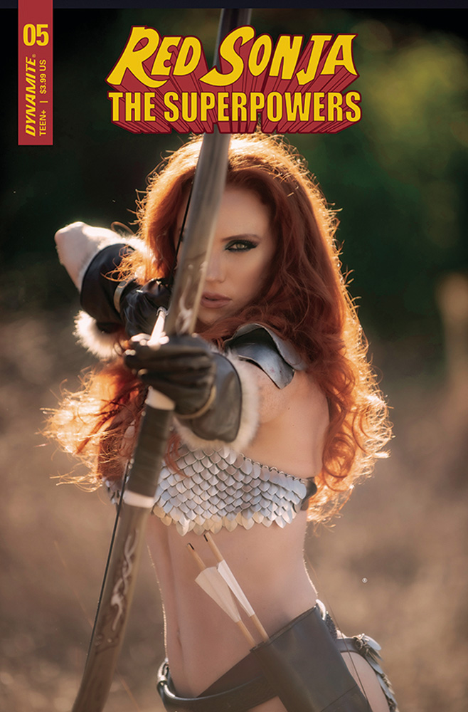 Image: Red Sonja: The Superpowers #5 (cover H - Cosplay) - Dynamite