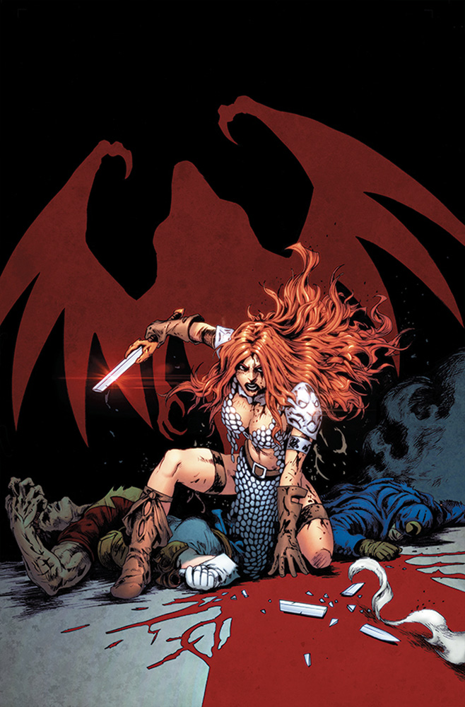 Image: Red Sonja: The Superpowers #5 (variant cover - Lau virgin) - Dynamite