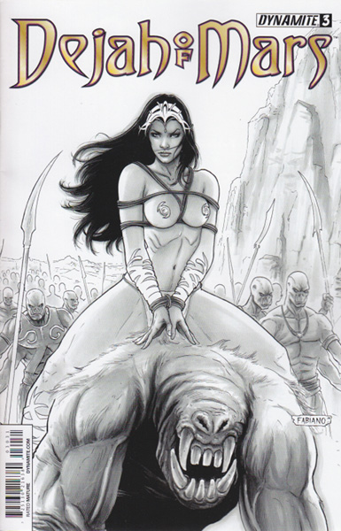 Image: Dejah of Mars #3 (variant incentive cover - Fabiano Neves B&W) (25-copy) - Dynamite