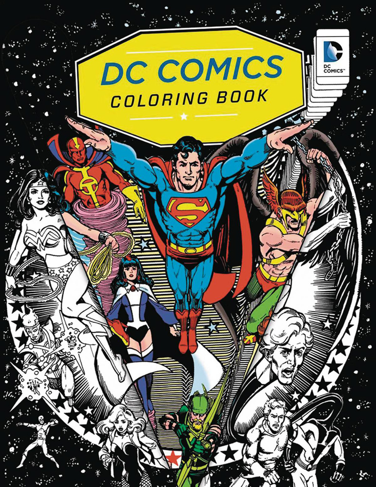 Image: DC Comics Coloring Book SC  - Insight Editions