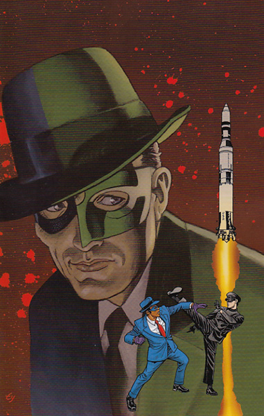 Image: Green Hornet '66 Meets The Spirit #1 (Templeton virgin incentive cover - 01061) (25-copy)  [2017] - Dynamite